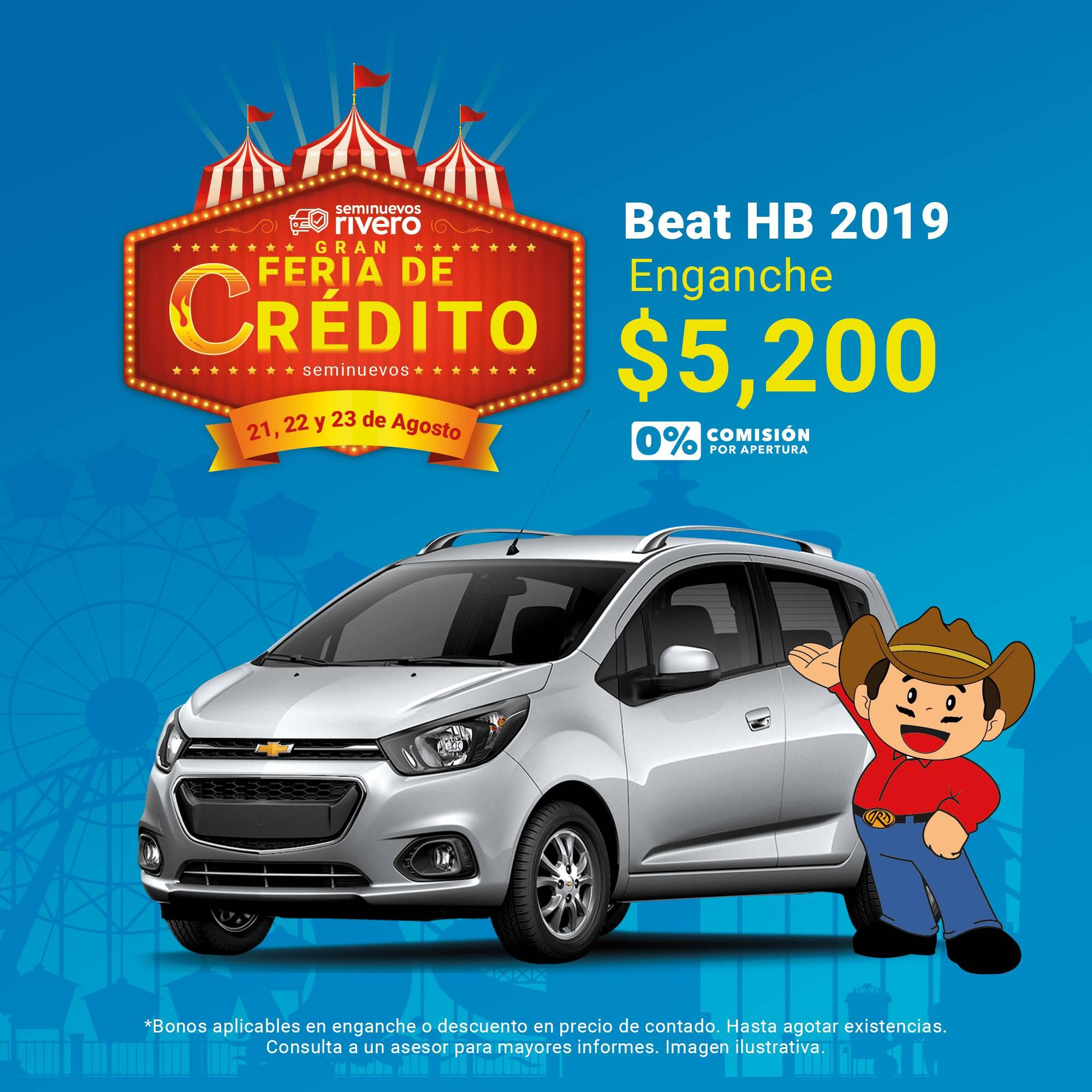 AUTOS SEMINUEVOS MONTERREY Feria de credito, Promocion CHEVROLET BEAT HB 2019