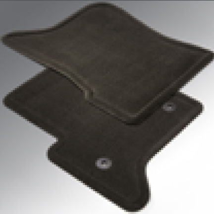 Tapetes de alfombra frontales - Color negro