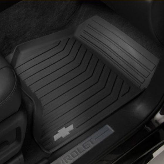 Tapetes de vinil delanteros con logo Chevrolet - Negro