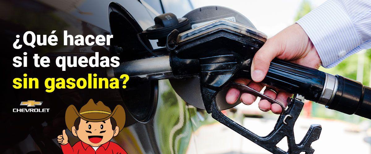 ¿Qué hacer si te quedas sin gasolina?