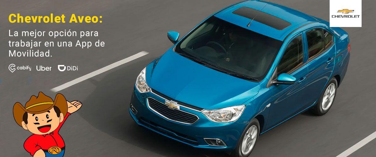 Chevrolet Aveo: La mejor opcion para trabajar en una App de Movilidad